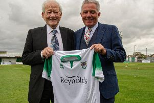 Sponsors unveil new shirt. Picture by Tommy McMillan