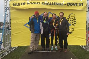 Alistair Gibson and friends on their Isle of Wight challenge