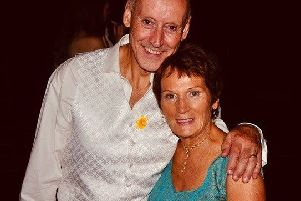 James Calwell with his wife Mary who died in December 2018, just 12 months after she was diagnosed with a brain tumour.