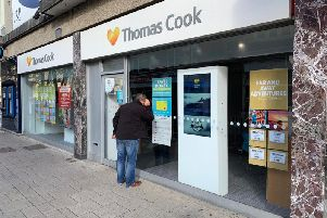 The Worthing town centre branch of Thomas Cook today