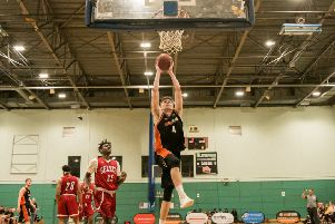 Hemel Storm's Sam Newman came away from Merseyside with an impressive triple double. (Picture by Joanne Charles).