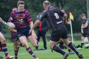 Sam Musgrave in the charge against Burgess Hill, photo by Lucy Higgins