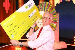 Hilary Keller, pictured with his cheque for E163,000.