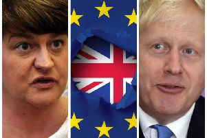 D.U.P. leader, Arlene Foster and British Prime Minister, Boris Johnson.