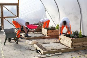 Prisoners at Magilligan pictured demonstrating their skills in horticulture have taken part in the first ever Skillbuild NI competition in a UK prison.