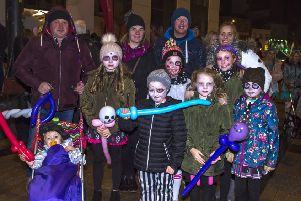 The Morrison and Sproule families dress for the Hallowe'en celebrations in the city centre last year. DER4418GS012