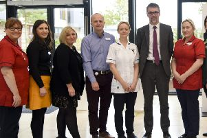 Staff at the North West Cancer Centre in Derry.