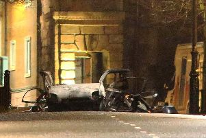 Republican paramilitaries bombed Derry's Courthouse earlier this year.