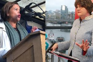 Mary Lou McDonald and Arlene Foster.