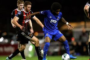 Former Waterford forward, Walter Figueira, pictured in action against Bohemians last season, has signed with Derry City.
