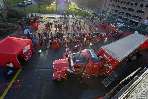 The Coca Cola truck has proved a huge attraction while in Derry during previous years. DER5016GS029