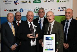 Harry Rutherford pictured with members of the Foyle and District Road Safety Committee