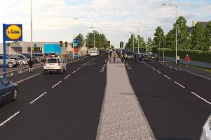 Artist's impression of how the new road could look.