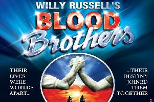 Blood Brothers performs at the Millennium Forum in March 2020.