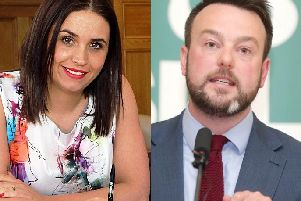 Elisha McCallion and Colum Eastwood, the front-runners in the battle for Foyle.