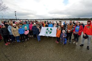 Pupils from Nazareth House Primary School were among walkers who took part in the annual St Stephen's Day GOAL Mile walk from Sainsbury's carpark to Ebrington Square and back. DER5219GS ' 015