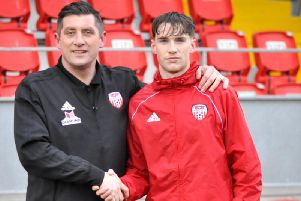 Derry City manager Declan Devine welcomes new signing Stephen Mallon to the club.