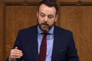 Colum Eastwood speaking at Westminster this morning.