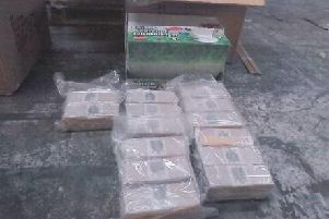 Packs of heroin were seized