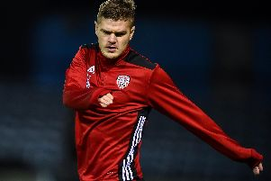 Defender Colm Horgan played the second half at United Park, on Friday night.
