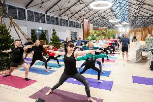 Yoga classes at the new NW Transport Hub.