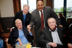 2013... Rev. Latimer and Martin Luther King III with Brendan Duddy and Ivan Cooper.