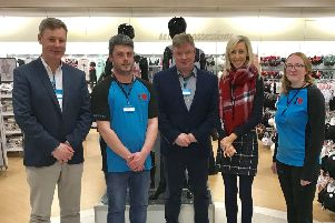 Area Manager Mr Neale Kirk  with Carla Lockhart MLA and other Primark staff.