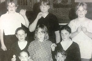 St Mary's Primary School seven-a-side Camogie team pictured in 1995 after winning a one day tournament.