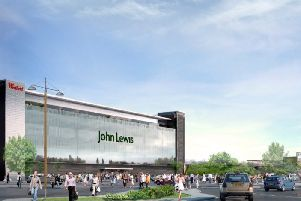 What might have been - an artist's impression showing the proposed John Lewis store as part of the earlier Westfield development at Sprucefield