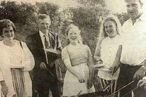 The South Down Unionist Association held a barbecue in the grounds of Tanvally Orange Hall in 1995.