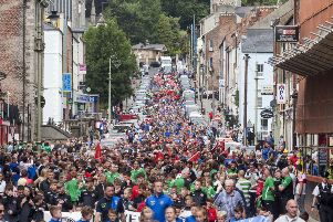 The 2018 O'Neills Foyle Cup Parade makes it way down Great James Street.