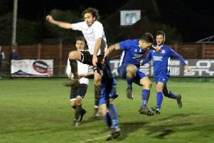 Pagham put Crawley Down Gatwick under the cosh / Picture by Roger Smith