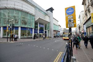 The racially-aggravated assault happened in North Street, Brighton