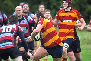 Ben Griffin on the charge - pic: Corinne Lovell
