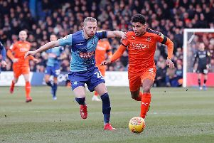 James Justin gets forward against Wycombe Wanderers