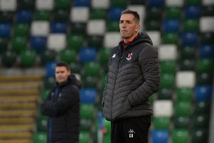 Stephen Baxter says his Crusaders side will keep going in the title fight. Photo Colm Lenaghan/Pacemaker Press