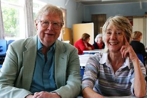 George and Bobbie at St Luke's Church in York in 2009, the day they said goodbye before moving to Bushey. Photo by ©Martin Sheppard