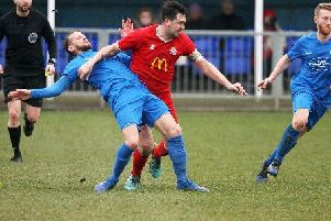 Shoreham went down in their SCFL Premier Division relegation battle with Eastbourne United. Picture: Derek Martin
