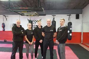 (Left to right) Mike O'Hagan, Brooke Snowsill, Ryan Brewer, Nick Brewer and Callum Brewer SUS-190226-134557001