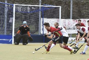 Action from the City of Peterborough  v Oxford Hawks match.