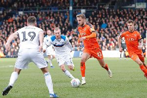 Andrew Shinnie gets on the ball against Rochdale