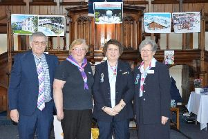 Duncan and Rosemary Corbett with  Beverly Chidley and Girlguiding Bedfordshire President Betsy Marley