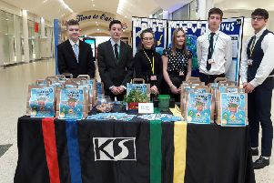 The winning team from Ken Stimpson Community school in Werrington at the enterprise day