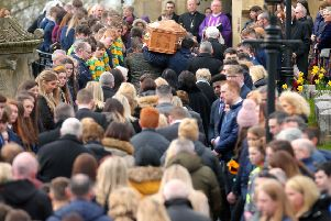 Funeral of 16-year-old Connor Currie at St Malachy's Church in Edendork, Co. Tyrone.  Photo: Jonathan Porter/PressEye.com