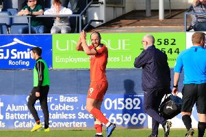 Danny Hylton should be fit for Saturday's match with Blackpool