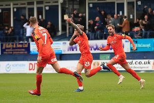 Striker Jason Cummings equalises against Blackpool