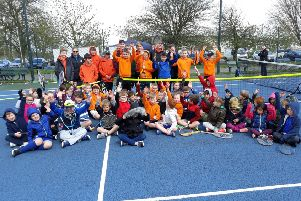 Juniors weren't put off by the less-than springlike conditions at Melton Mowbray Tennis Club EMN-190416-190523002