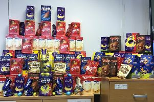 Morestaff and Allenday Recruitment collected Easter Eggs to donate to Dunstable Foodbank