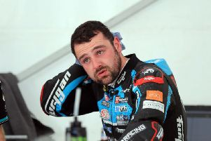 Ballymoney man Michael Dunlop is understood to have sustained a wrist injury during testing.