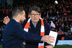 Hatters chief of recruitment Mick Harford